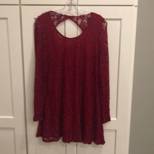 Double Zero burgundy lace dress. Brand new